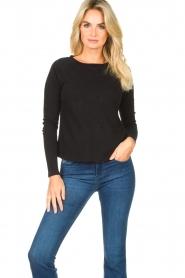 American Vintage |  Basic round neck T-shirt Sonoma | black  | Picture 2