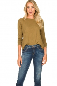 American Vintage | Basic ronde hals T-shirt Sonoma | groen  | Afbeelding 2