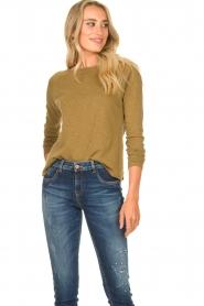 American Vintage | Basic ronde hals T-shirt Sonoma | groen  | Afbeelding 3