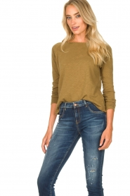 American Vintage | Basic ronde hals T-shirt Sonoma | groen  | Afbeelding 5
