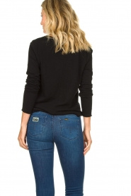 American Vintage |  Basic V-neck top Sonoma longsleeve | black  | Picture 6