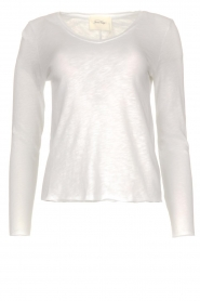 American Vintage |  Basic V-neck top Sonoma | white