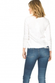 American Vintage |  Basic V-neck top Sonoma | white  | Picture 6