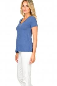 American Vintage |  Basic V-neck T-shirt Jacksonville | blue  | Picture 4