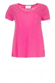 American Vintage | Basic V-neck T-shirt Jacksonville | pink  | Picture 1