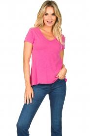 American Vintage | Basic V-neck T-shirt Jacksonville | pink  | Picture 2