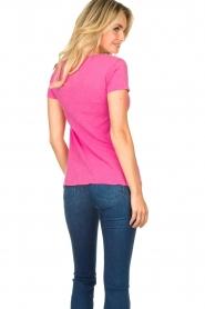 American Vintage | Basic V-neck T-shirt Jacksonville | pink  | Picture 6