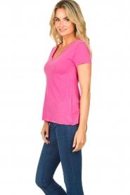 American Vintage | Basic V-neck T-shirt Jacksonville | pink  | Picture 4