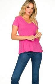 American Vintage | Basic V-neck T-shirt Jacksonville | pink  | Picture 3