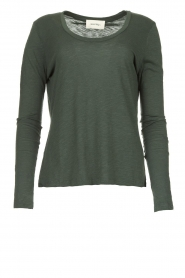 American Vintage |  Basic round neck T-shirt Jacksonville | green  | Picture 1