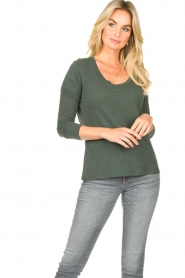 American Vintage |  Basic round neck T-shirt Jacksonville | green  | Picture 2