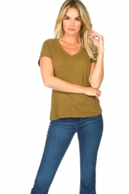 American Vintage |  Basic T-shirt with round neck Jacksonville | green  | Picture 2