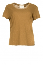 American Vintage |  Basic T-shirt with round neck Jacksonville | green  | Picture 1