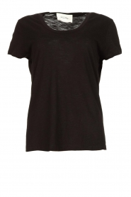 American Vintage |  Basic T-shirt with round neck Jacksonville | black