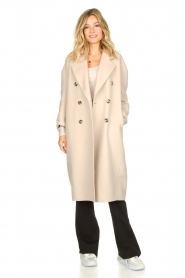 American Vintage |  Oversized wool blend coat Dado | beige  | Picture 3