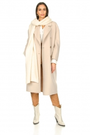 American Vintage |  Oversized wool blend coat Dado | beige  | Picture 4