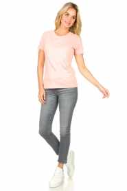 American Vintage |  Basic T-shirt Vegiflower | pink  | Picture 3