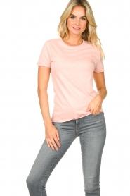 American Vintage |  Basic T-shirt Vegiflower | pink  | Picture 2