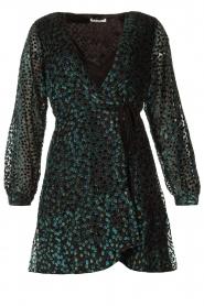 Freebird |  Velvet wrap dress Bora | black  | Picture 1
