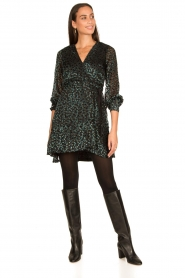 Freebird |  Velvet wrap dress Bora | black  | Picture 3
