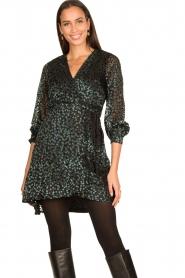 Freebird |  Velvet wrap dress Bora | black  | Picture 2