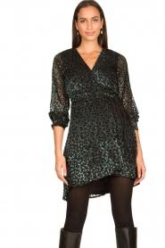 Freebird |  Velvet wrap dress Bora | black  | Picture 4