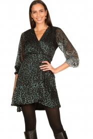 Freebird |  Velvet wrap dress Bora | black  | Picture 5