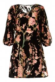 Freebird |  Velvet dress with floral print Floor | pink  | Picture 1