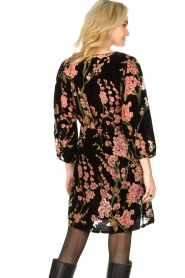 Freebird |  Velvet dress with floral print Floor | pink  | Picture 6