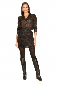Freebird |  See-through blouse Riva | black  | Picture 3