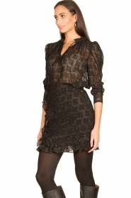 Freebird |  See-through blouse Riva | black  | Picture 4