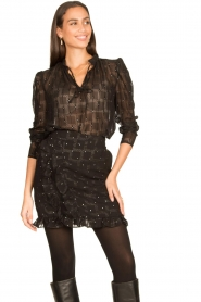 Freebird |  See-through blouse Riva | black  | Picture 2