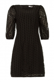 Freebird |  Dress with velvet spots Elyn | black  | Picture 1