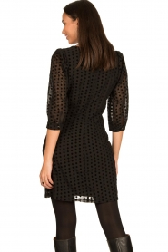 Freebird |  Dress with velvet spots Elyn | black  | Picture 7