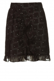 Freebird |  Skirt with ruffles Silke | black  | Picture 1
