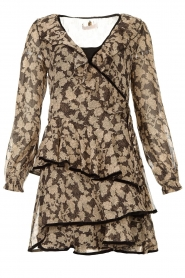 Freebird |  Floral wrap dress Chloe | black  | Picture 1