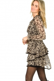 Freebird |  Floral wrap dress Chloe | black  | Picture 5