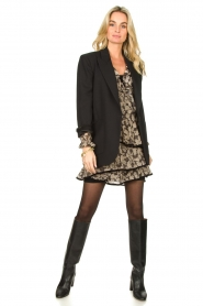 Freebird |  Floral wrap dress Chloe | black  | Picture 3