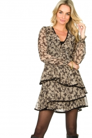 Freebird |  Floral wrap dress Chloe | black  | Picture 2