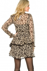 Freebird |  Floral wrap dress Chloe | black  | Picture 6