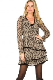 Freebird |  Floral wrap dress Chloe | black  | Picture 4