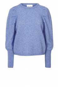 Lolly's Laundry |  Sweater with puff sleeves Priscilla | blue  | Picture 1