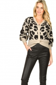 Lolly's Laundry |  Leopard cardigan Laura | animal print  | Picture 2