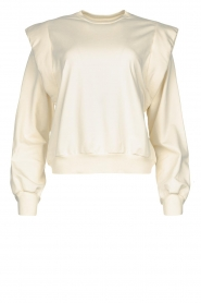Notes Du Nord |  Cotton sweater with shoulder details Simone | natural  | Picture 1