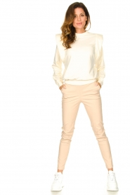 Notes Du Nord |  Cotton sweater with shoulder details Simone | natural  | Picture 3