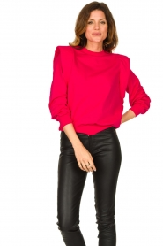 Notes Du Nord |  Sweater with shoulder details Simone | pink  | Picture 2