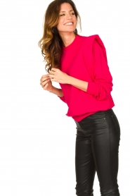 Notes Du Nord |  Sweater with shoulder details Simone | pink  | Picture 4