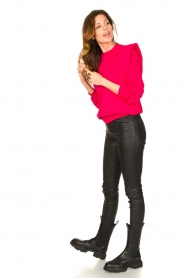Notes Du Nord |  Sweater with shoulder details Simone | pink  | Picture 3
