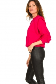 Notes Du Nord |  Sweater with shoulder details Simone | pink  | Picture 6