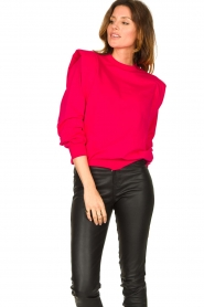 Notes Du Nord |  Sweater with shoulder details Simone | pink  | Picture 5